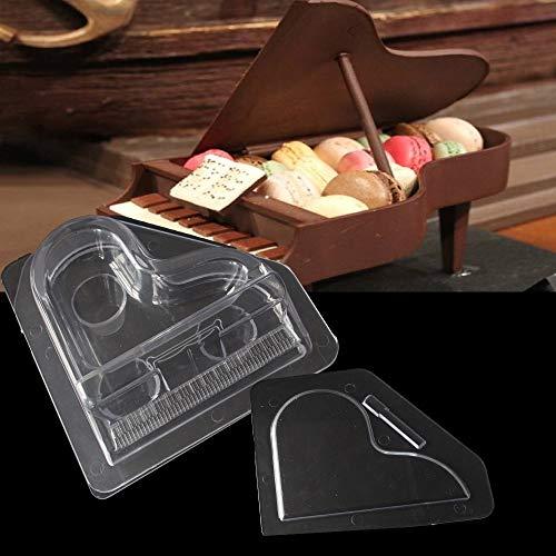 Ecosway 3D-Klavier Schokoladenformen, 2-teiliges Set, Backformen, transparent, Schokoladenformen, Kuchen, Süßigkeiten, DIY, Fondantform