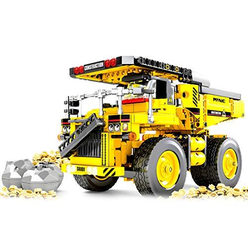 12che 807St Technic Spielzeug Baufahrzeuge Dreirad Kipper für Kinder