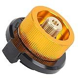 linxiaojix Adaptador de Gas butano para Estufa de Camping, Seguro de Usar Adaptador de Estufa de Camping Ligero de Alta confiabilidad para Adaptador de Tanque de Gas Largo