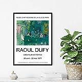 Raoul Dufy Art Prints ExposicióN Cartel Vintage GaleríA Arte De La Pared Pintura De La Lona Cuadros De La Pared Para La DecoracióN De La Sala De Estar-60x90cm Sin Marco