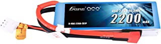 Gens ace 7.4V 2200mAh 2S 45C LiPo Battery Pack Deans Plug for 70MM EDF Rc Plane 450 Helicopter Rc Boat