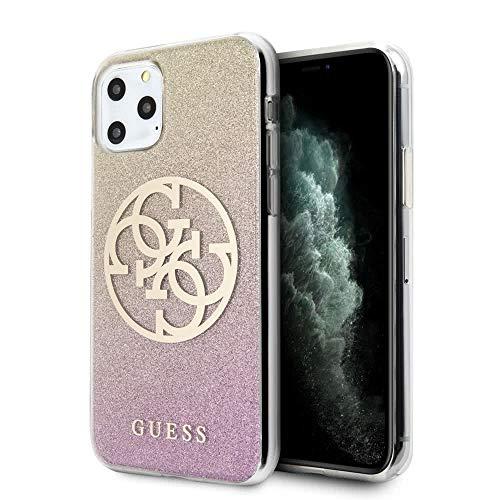 Guess PC/TPU Glitter Circle 4G Case für Apple iPhone 11 Pro Max - Gold pink
