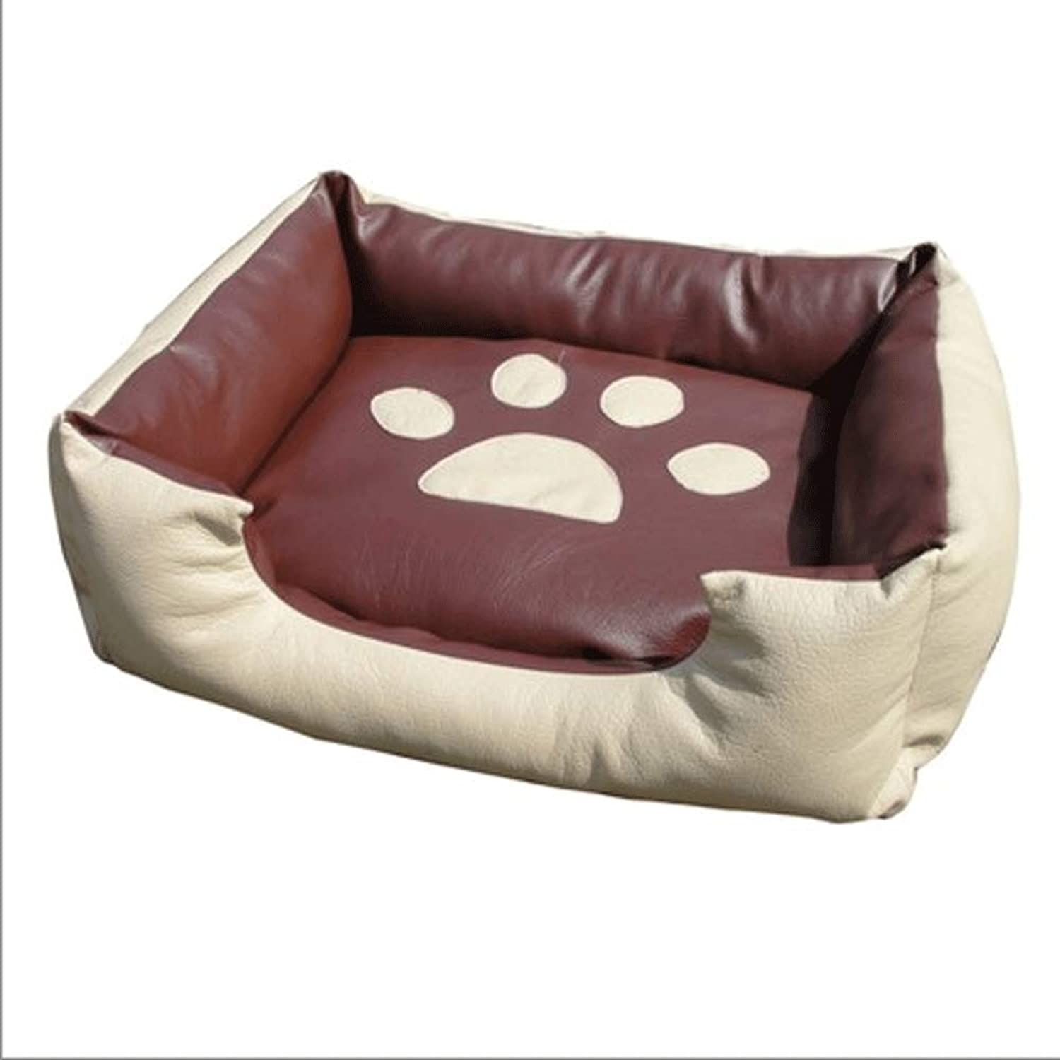 PLDDY Washable, Leather, Pet, Kennel, Four Seasons Kennel, Cat Litter, Kennel Mat, (Size   M)