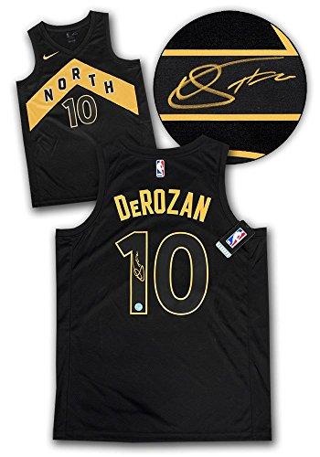 DeMar DeRozan Toronto Raptors Autographed Black Gold City Nike Swingman Jersey - Autographed NBA Jerseys