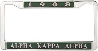 Alpha Kappa Alpha Sorority New Metal License Plate Frame