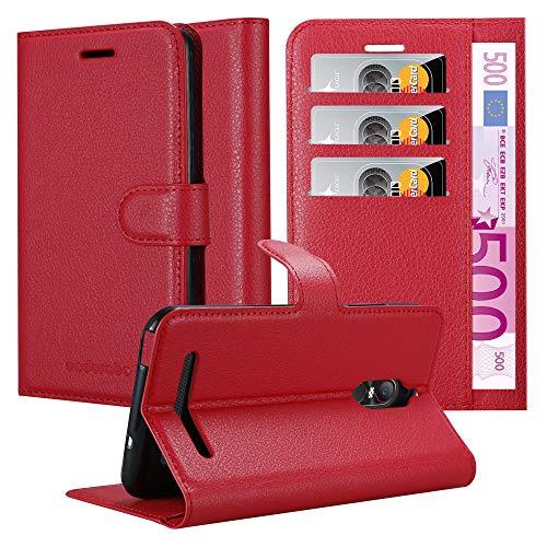 Cadorabo Hülle für ZTE Nubia N1 LITE in Karmin ROT - Handyhülle mit Magnetverschluss, Standfunktion & Kartenfach - Hülle Cover Schutzhülle Etui Tasche Book Klapp Style