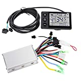 VGEBY Electric Bike Motor Controller, Brushless Motor Controller Waterproof LCD Display Panel and Ebike Scooter Brushless Motor Speed Controller Kit(2#36V-48V)