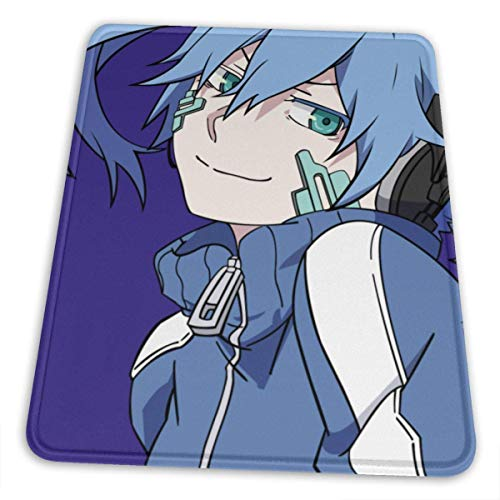 Anime MekakuCity Actors Mouse Pad with Stitched Edge Premium-Textured Mouse Mat Rectangle Non-Slip Rubber Base Oversized Gaming Mousepad,for Laptop Computer & PC 10 x 12 inch