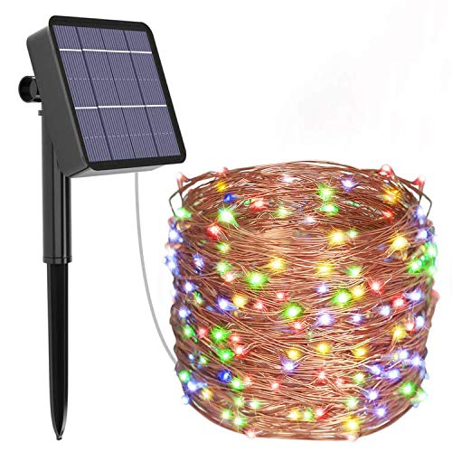 Kolpop Solar Fairy Lights Outdoor, 24m 240 LED Solar String Lights Garden 8 Modes Copper Wire Fairy Lights Decorative String Lights for Patio, Gate, Yard, Wedding, Party Decoration (Multi Color)