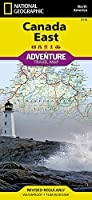 National Geographic Adventure Travel Map Canada East: North America