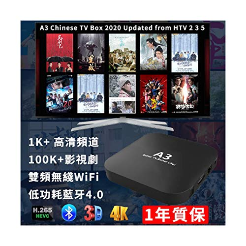 2020 A3 Chinese 2GB RAM Upgraded from HTV Chinese Box 大陸香港台灣澳門 越獄版...