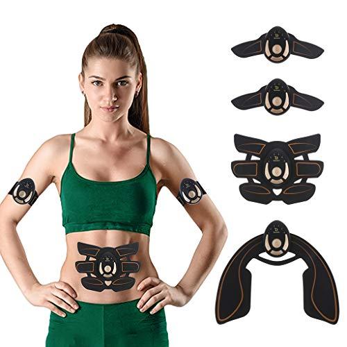 DYNWAVE Electroestimulador Muscular Abdominales Quemador de Grasa Masajeador de Músculo Entrenamiento para Abdomen/Brazo/Glúteos