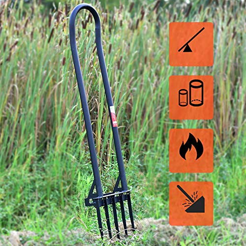 CRZJ Hollow Tine Lawn Aerator, Lawn Aerator - Suitable for Garden...