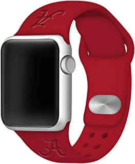 Affinity Bands Alabama Crimson Tide Debossed Silicone Band Compatible with The Apple Watch - 42mm/44mm