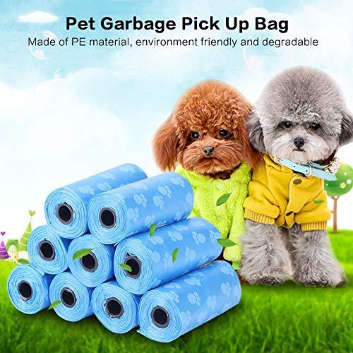 SHAOLIN 20 Rollen = 300 Stück Haustier-Müll-Reinigungsbeutel, herzförmiger Hundekot-KOT-Auffangbeutel, Haustierkuchen-Reinigungsbeutel, Outdoor-KOT-Abholbeutel