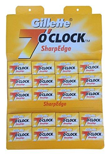 Gillette 7 0'Clock SharpEdge 両刃替刃 100枚入り(5枚入り20 個セット)【並行輸入品】