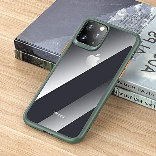 LWL House Guard Pro Series Funda Protectora de TPU + PC a Prueba de Golpes Case for iPhone 11 Pro Durable (Color : Green)