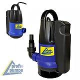 Schmutzwasser-Tauchpumpe Dirt-Star-Extra-SS als Gartenpumpe zum Bewässern und als Kellerpumpe zum Entwässern mit integriertem Schwimmerschalter, 10m Kabel (550W)