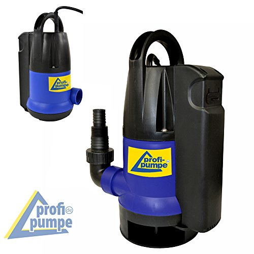 Schmutzwasser-Tauchpumpe Dirt-Star-Extra-SS als Gartenpumpe zum Bewässern und als Kellerpumpe zum Entwässern mit integriertem Schwimmerschalter, 10m Kabel (750W)