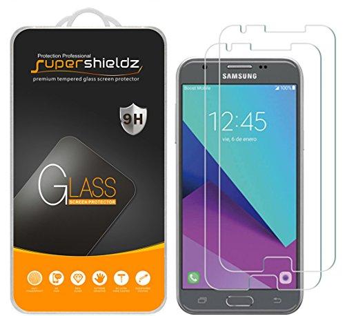 [2-Pack] Supershieldz for Samsung Galaxy J3 Emerge Tempered Glass Screen Protector, Anti-Scratch, Anti-Fingerprint, Lifetime Replacement Warranty