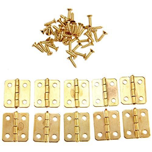50 Uds 18x16mm bisagras de puerta de armario de cocina accesorios de muebles 4 agujeros bisagras de cajón dorado para cajas de joyería accesorios de muebles