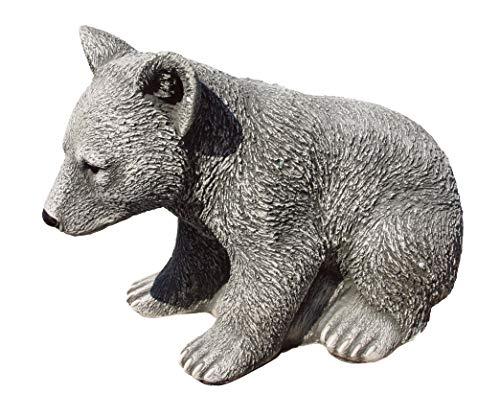 Figuras Decorativas de jardín Osezno 44x31cm. en hormigón-Piedra Gris