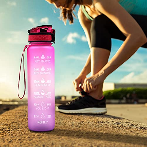 Sports Water Bottle Leak-Proof Hiking Camping Bottle,Sailor Water Bottle Outdoor Portable Hiking Camping Bottle Free BPA Free Water Jug Motivational Water Bottle Removable Strainer 1L (C)