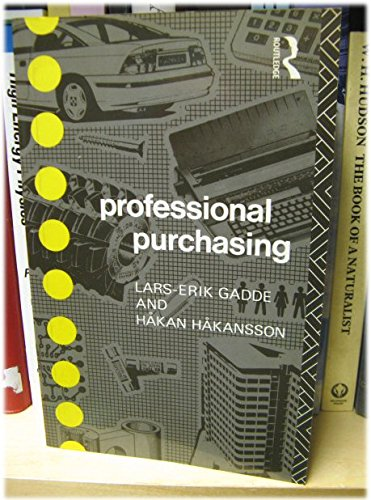 Professional Purchasing (Consumer Research and Policy Series)