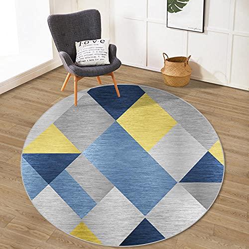 Alfombra de silla de patrón abstracto para piso duro para suelo de azulejos,Alfombra redonda para pisos duros para suelo de azulejos,Φ31 Alfombra de silla de alfombra resistente para piso de azulejos
