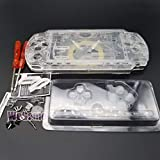 Full Housing Case Cover Housing Shell Replacement for PSP 2000 2001 2002 2003 with Buttons Kit-Clear