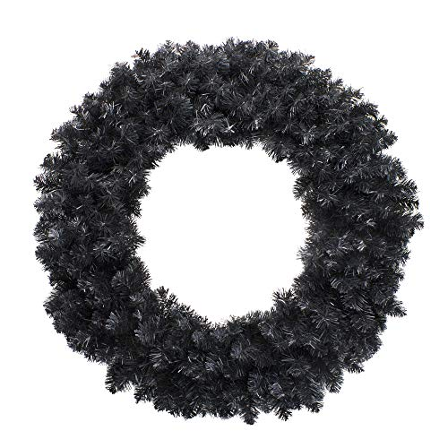 Northlight 36' Black Colorado Spruce Artificial Christmas Wreath - Unlit