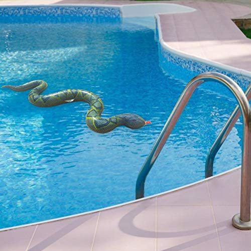 Aufblasbare Schlangen, 95CM PVC Aufblasbare Schlange Scary Simulation Schlangenspielzeug Für Gartenpool Farm Halloween Trick Spielzeug Realistisches Schlangenspielzeug Für Halloween Streich Requisiten