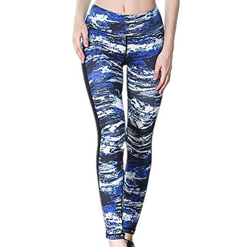 NIGHTMARE Leggings de Camuflaje para Correr con Control de Barriga para Mujer, Entrenamiento de Gimnasio, Pantalones de Yoga de Cintura Alta, Mallas de Yoga para Correr XL