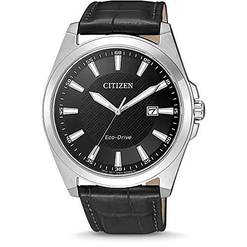 Citizen Reloj Analógico para Hombre de Cuarzo con Correa en Cuero BM7108-14E