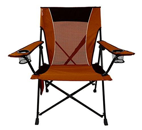Kijaro  Dual Lock Portable Camping and Sports Chair Victoria Desert Orange