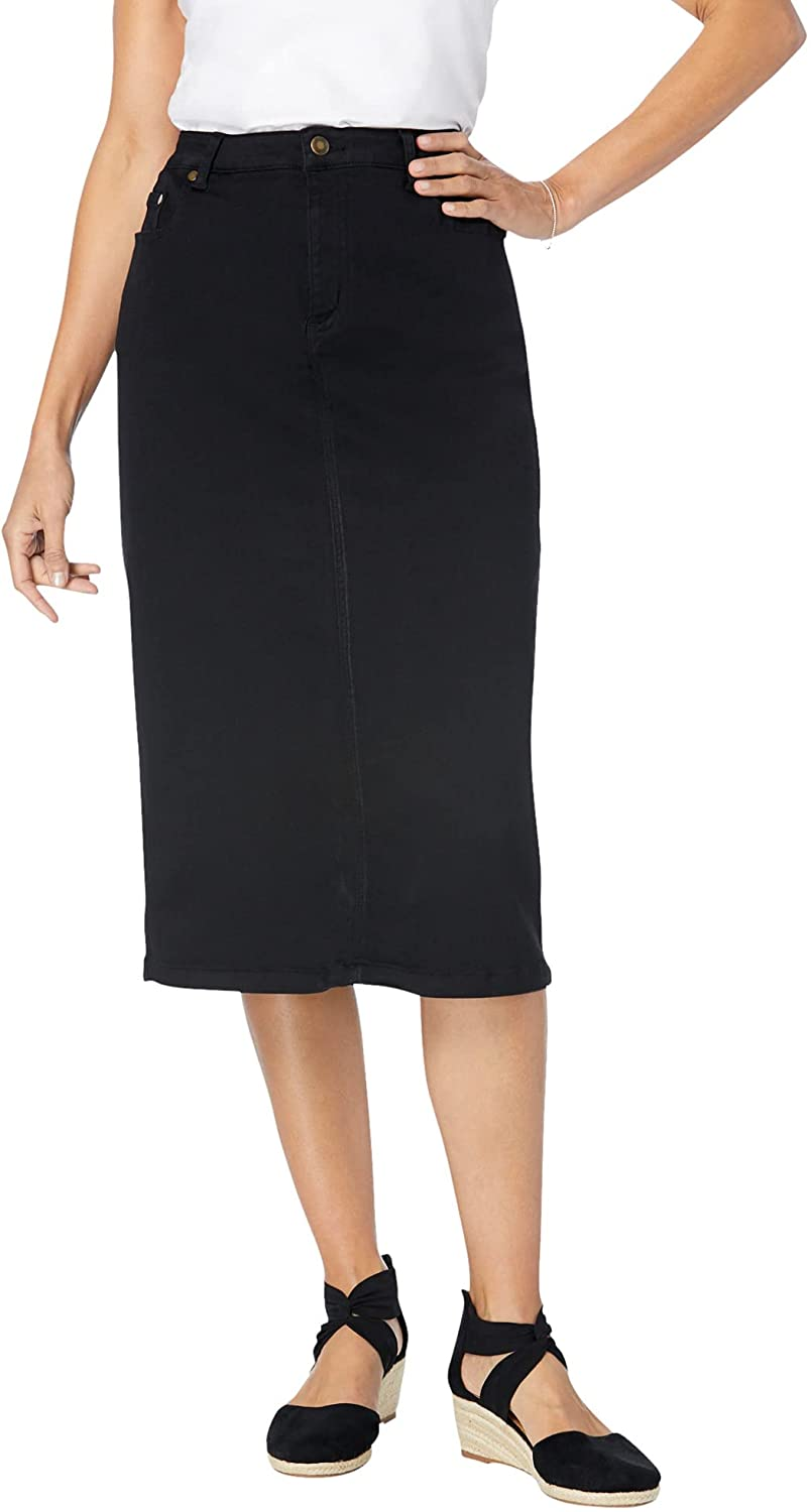 Woman Within Women's Plus Size Stretch Jean Skirt