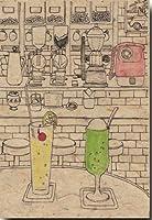 ペン画ポストカード 「純喫茶の青春」 懐かしい昭和 絵葉書