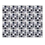20 adesivi per piastrelle da 10 cm x 10 cm, adesivi per piastrelle di mosaico per casa, cucina, bagno, adesivi adesivi per piastrelle (mix grigio)