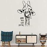 Sticker mural,Grande taille 110 * 155 CM art girafe sticker mural animal sauvage zoo flore bébé maternelle non toxique PVC décalque auto-adhésif mural M 56 cm X 79 cm