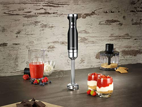 Graef-HB502EU-Stabmixer-Kunststoff-Schwarz-Silber