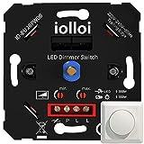 iolloi interruptor regulador de luz, encendido/apagado giratorio LED atenuador interruptor para Regulable LED/incandescente/bombillas halógenas, 2 vías, 3-150W (1-10 LEDs)