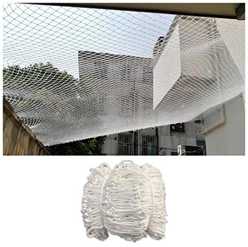 Safety Net Balcony Protection Outdoor Rope Netting Decor Netted Canopy Tent for Camping Mesh Netting Trellis Net for Climbing Plants Trellis Net 6mm/5cm White Kindergarten School Garden Plant Cat
