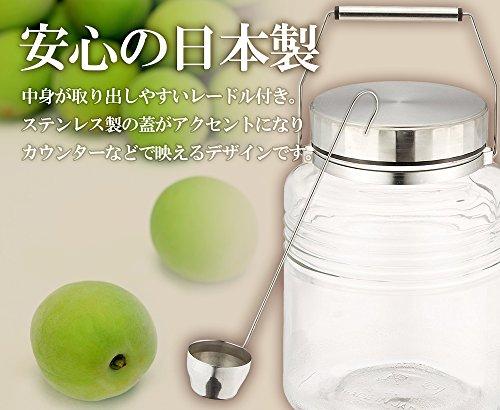 アデリア 保存瓶 ガラス クリア 3L MCコンテナー レードル付き 日本製 815