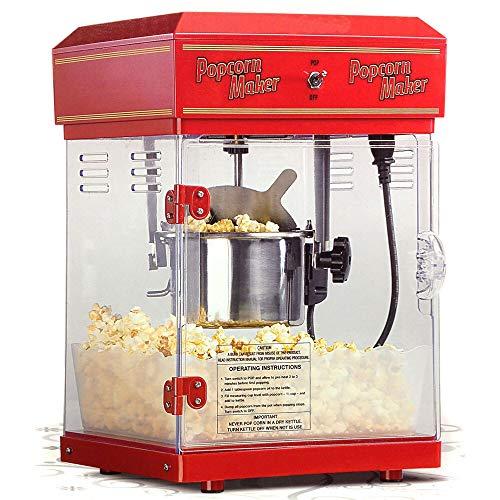 Monsterzeug Popcornmaschine in Retro Design, Profi Popcorn-automat mit Innenbeleuchtung, Popcornmaker für Zuhause