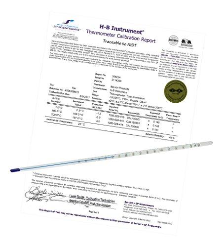 h-b Durac Plus ASTM s62 F-03 afzonderlijk gekalibreerd vloeistof-in-glass thermometer; 36/35 F, Bio Liquid vullen (b60780-0100)
