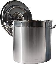 Voorraad Pot/Soep Emmer, 304 RVS Commerciële Pekkel Koken Emmer/Opslag Emmer, met deksel, voor Gasfornuis/Inductie Fornuis...