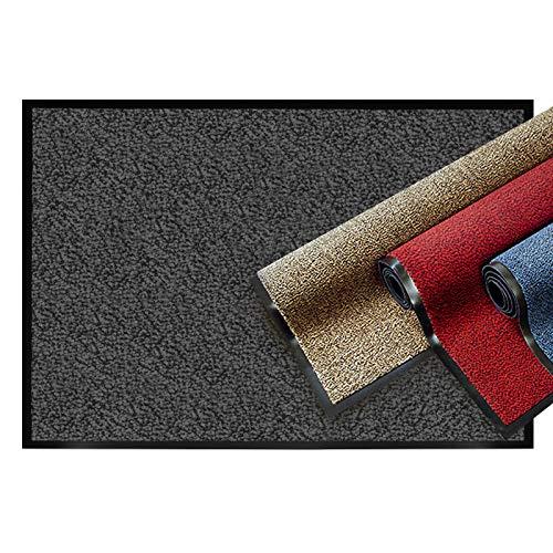 casa pura® Premium Fußmatte | Sauberlaufmatte für Eingangsbereiche | Fußabtreter mit Testnote 1,7 | Schmutzfangmatte in 8 Größen als Türvorleger innen und außen | anthrazit - grau | 60x90cm