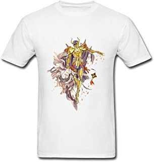 Kittyer Men's Saint Seiya Design Cotton T Shirt S