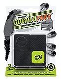 GorillaPads CB148 Non Slip Furniture Pads/Rubber Gripper Feet (Set of 8) Self Adhesive Anti-Skid Floor Protectors, 1-1/4 inch Square, Black