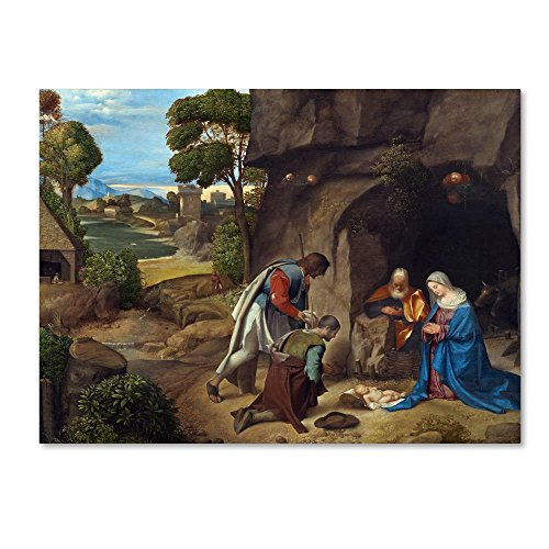The Adoration Of The Shepherds by Giorgione, 35x47-Inch Canvas Wall Art